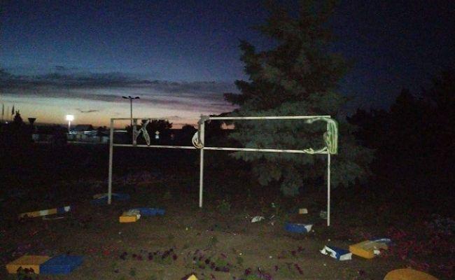 В Луганской области местный житель уничтожил знак «Украина»