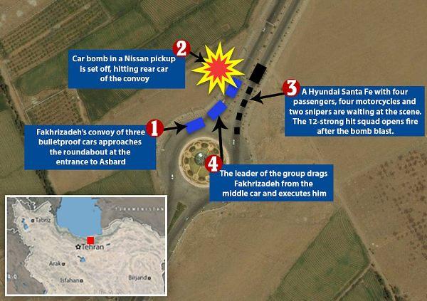 dda69c1cee26eb93d38f0046bf606 «Отца иранской бомбы» настигли 12 агентов: подробности спецоперации